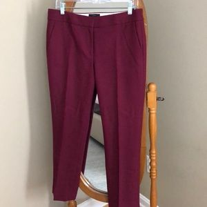J.Crew - Wool/Stretch Campbell Pant - Berry Color